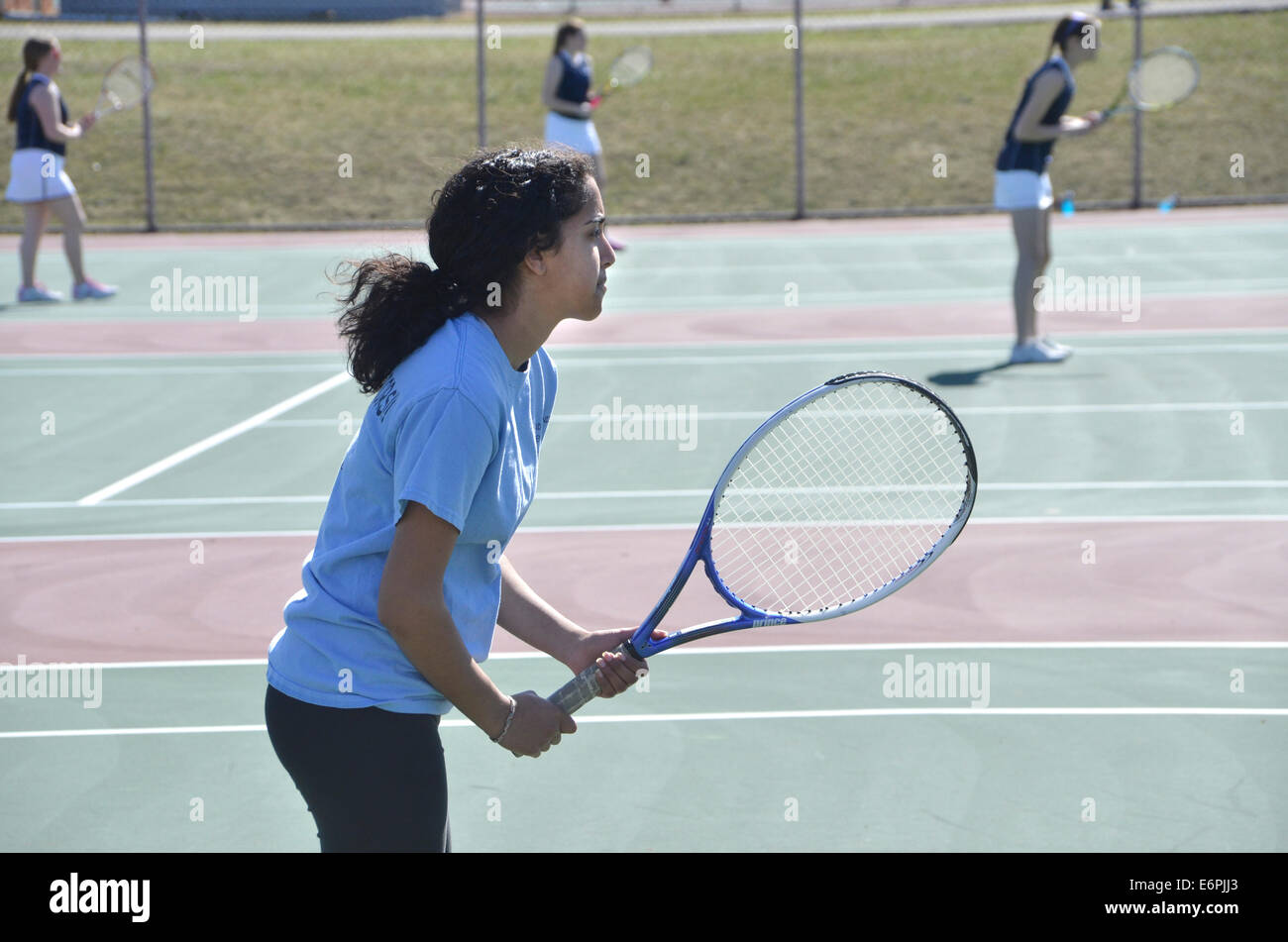 Joueur de tennis adolescents Photo Stock