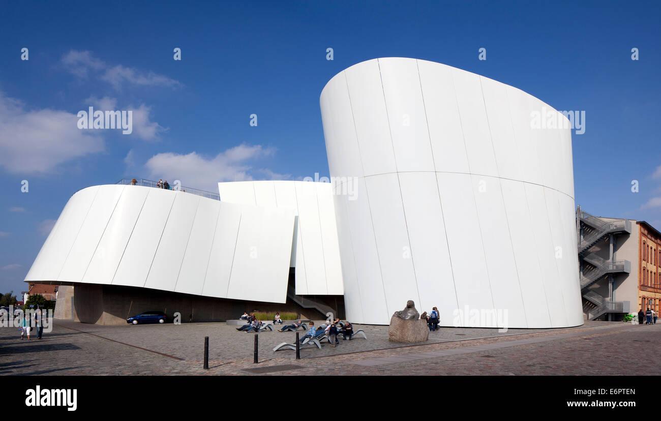 L'histoire naturelle et musée maritime Ozeaneum Stralsund au port, les architectes Behnisch, Stralsund Photo Stock