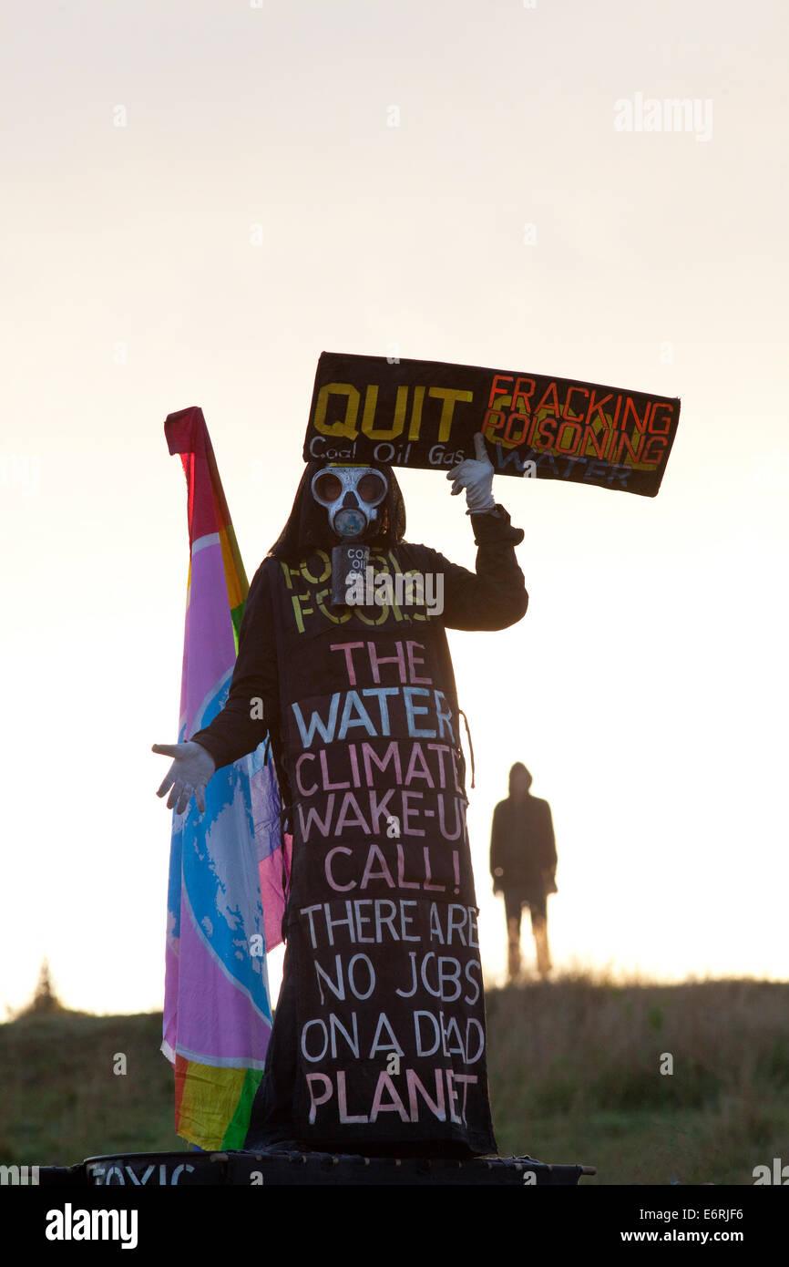 Les protestataires au Bentley blocus sur l'aube, Bentley, NSW, Australie Photo Stock