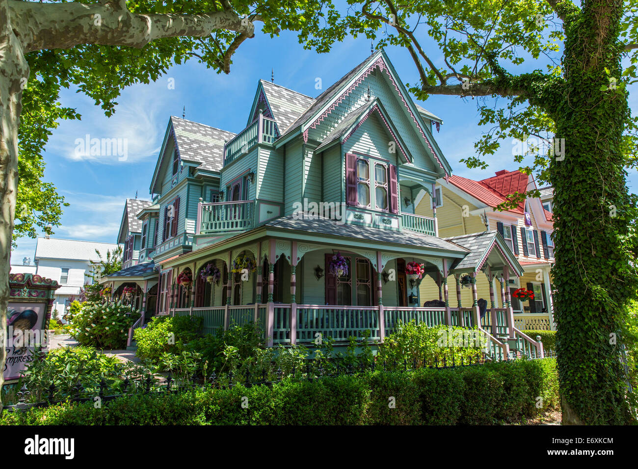 USA,New Jersey,Cape May, l'Impératrice bed and breakfast Photo Stock
