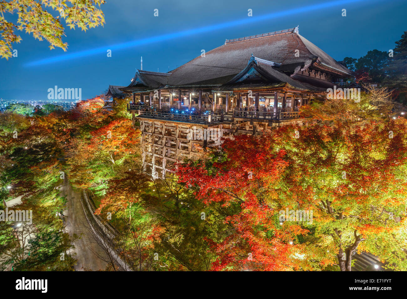 Kyoto, Japon, le Temple Kiyomizu-dera à l'automne sesaon. Photo Stock