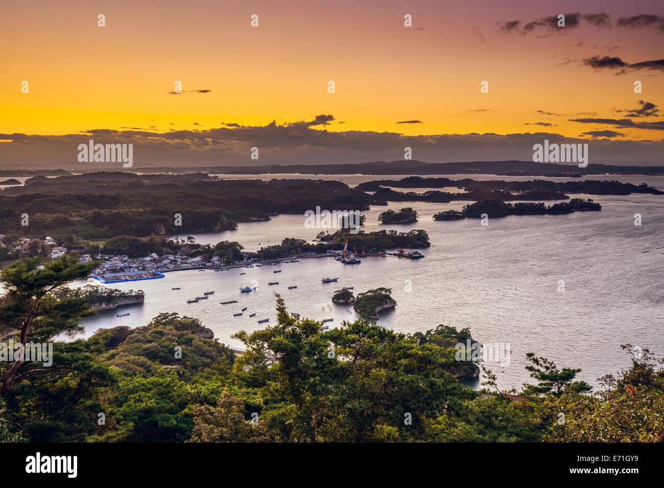 Matsushima, Japon paysage côtier. Photo Stock