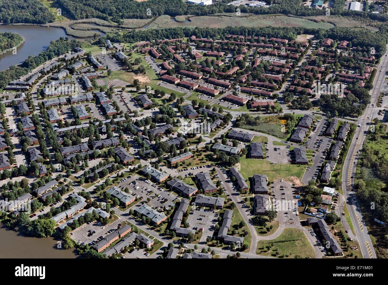 Communauté résidentielle, près de Red Bank, NJ Photo Stock