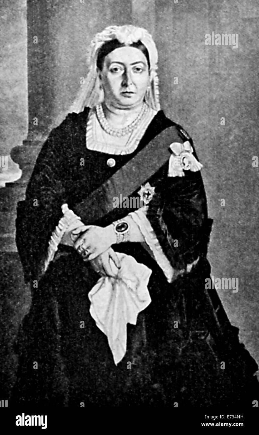 Un portrait de la reine Victoria en 1876. Portrait par Von Angeli. Des archives de presse Service Portrait Photo Stock