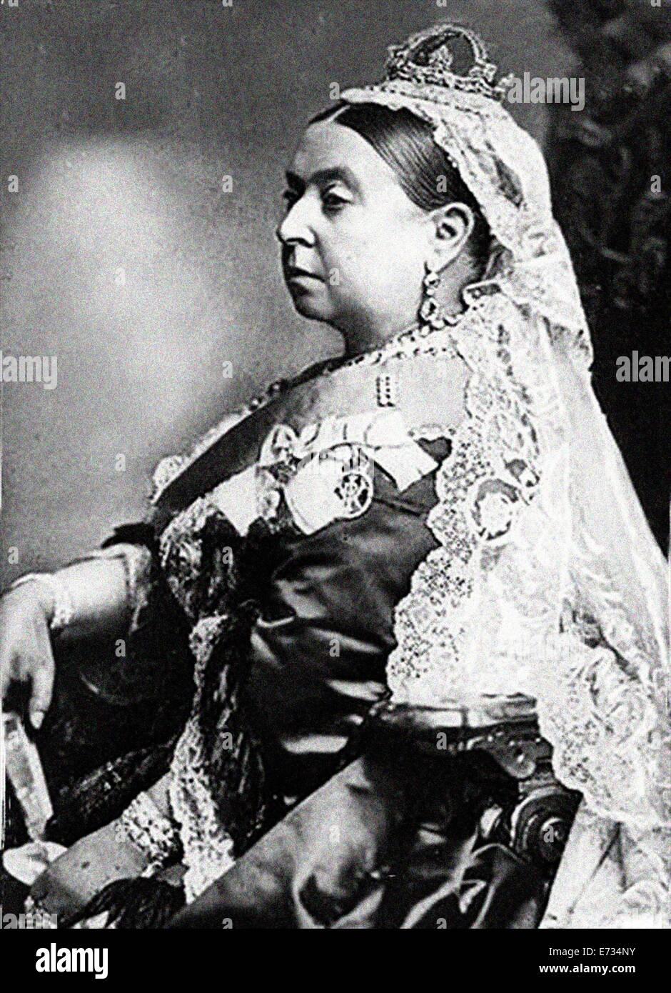 La reine Victoria lors de son jubilé de diamant Photo Stock