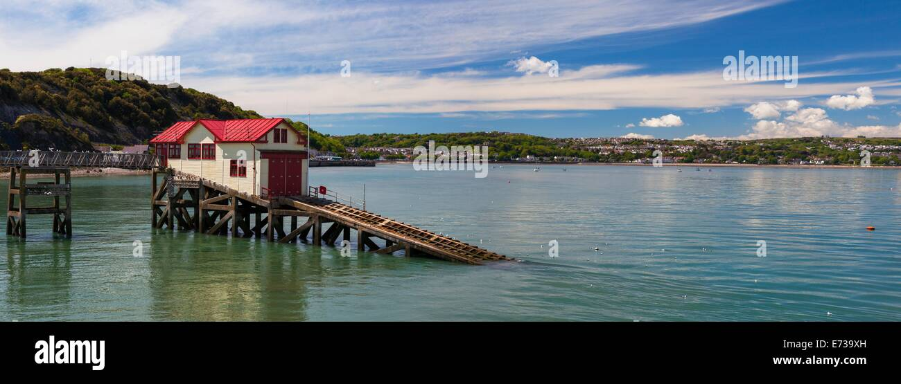 Mumbles Pier, Gower, Swansea, Pays de Galles, Royaume-Uni, Europe Photo Stock