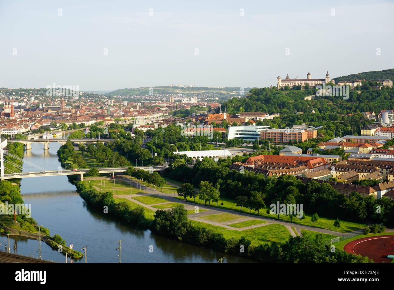 Rivière Main, Würzburg, Bavaria, Germany, Europe Photo Stock