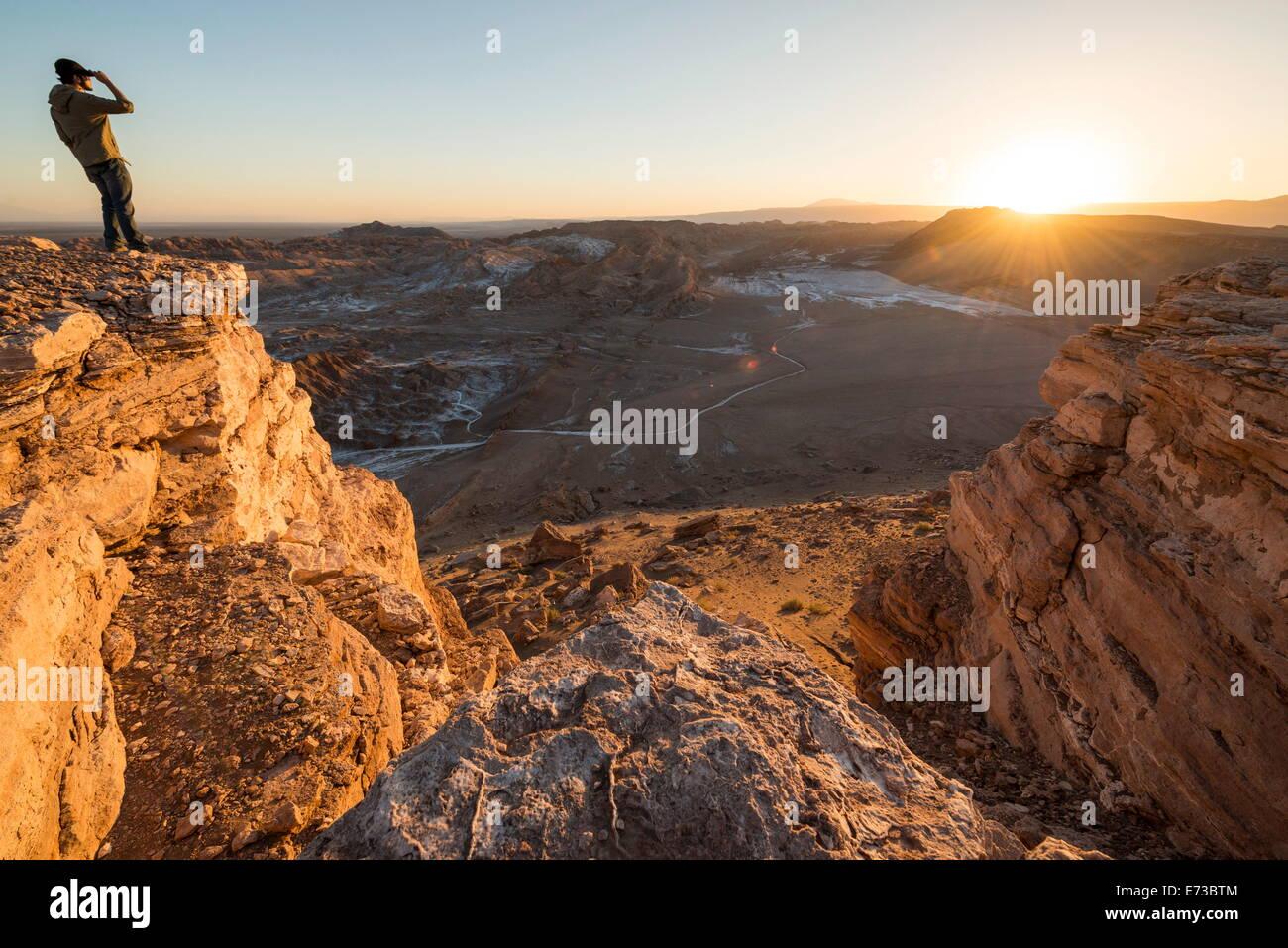 Valle de la Luna (vallée de la lune), Désert d'Atacama, El Norte Grande, Chili, Amérique du Sud Photo Stock