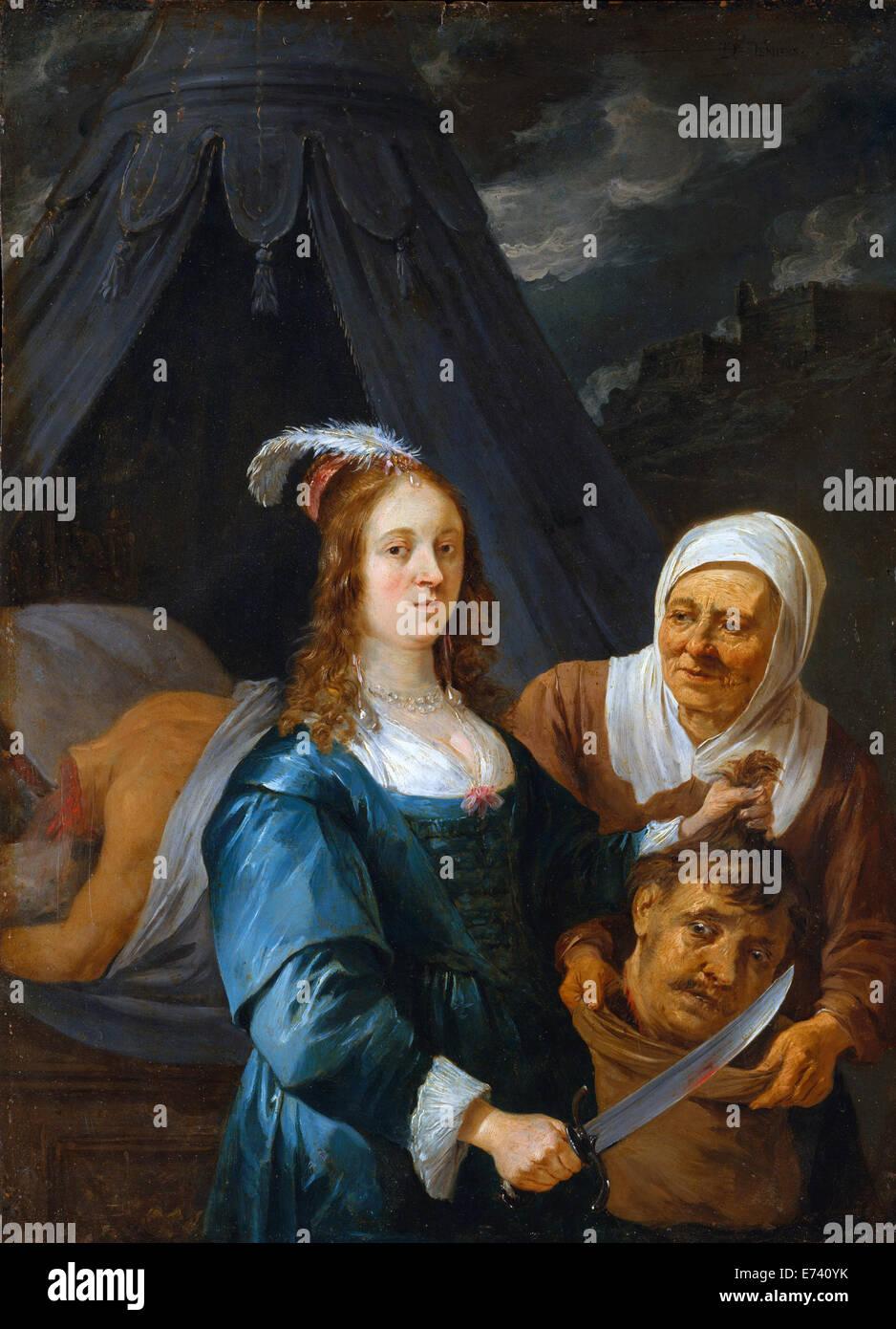 Judith avec la tête d'Holopherne - par David Teniers le Jeune, 1650 Photo Stock