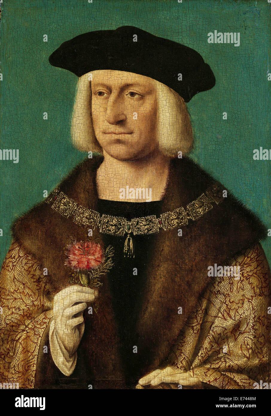 Portrait de Maximilien I (1459-1519) - magasin de Joos van Cleve, 1530 Photo Stock