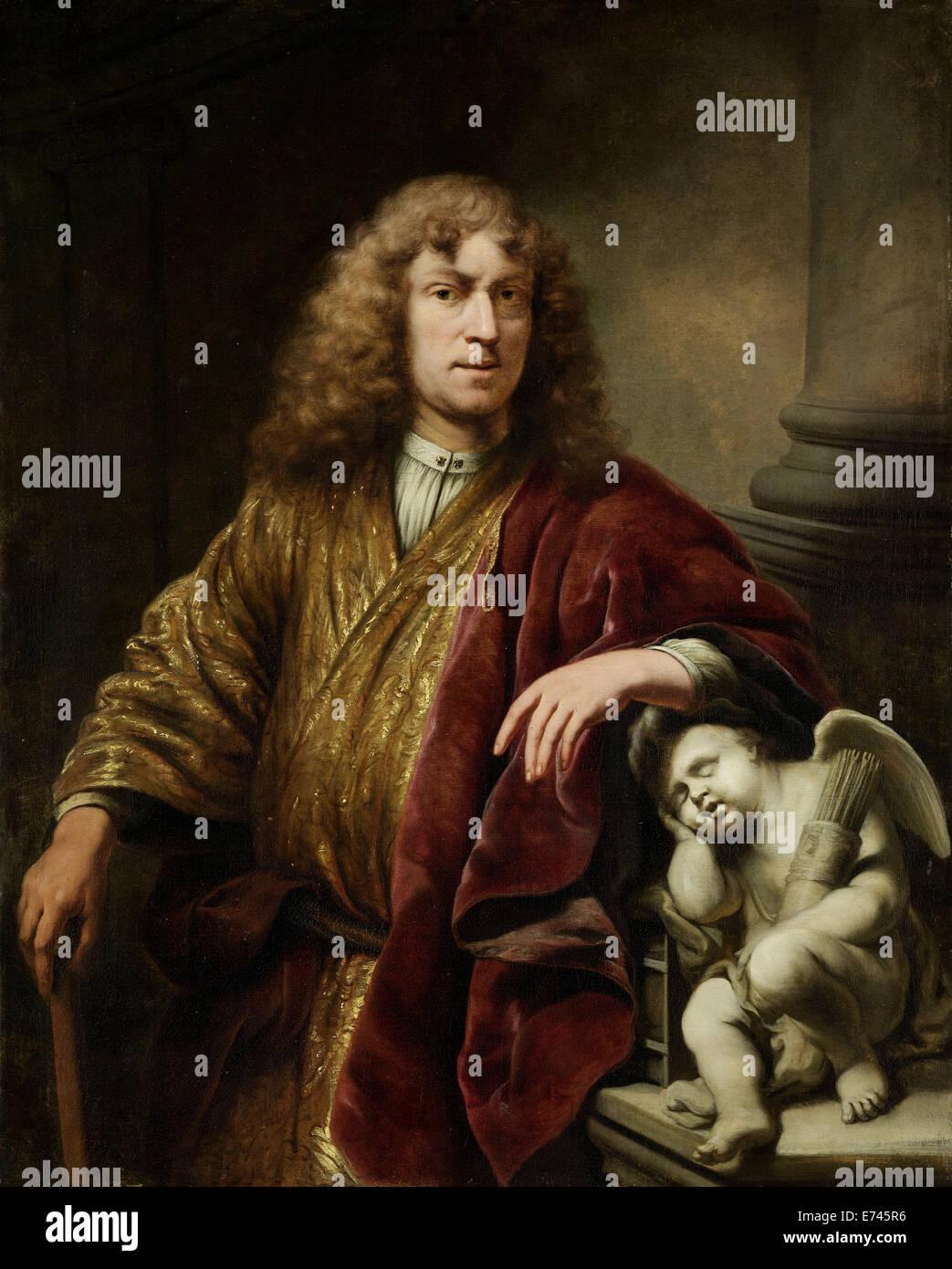 Autoportrait - par Ferdinand Bol, 1669 Photo Stock