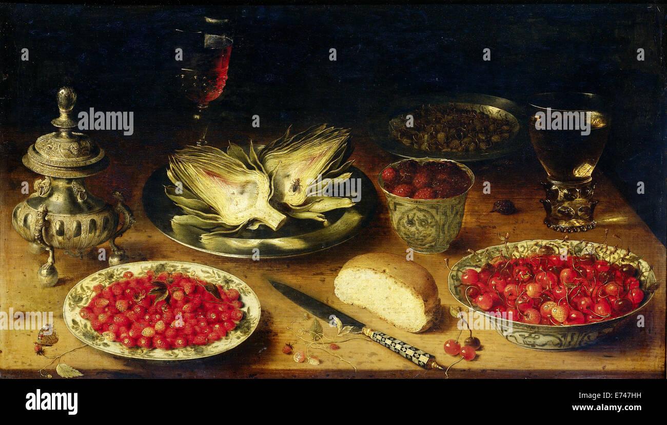 Still Life - Osias Beert attribué à, 1600 - 1624 Photo Stock