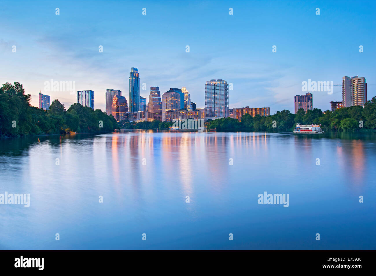 Skyline de Austin, Texas Photo Stock
