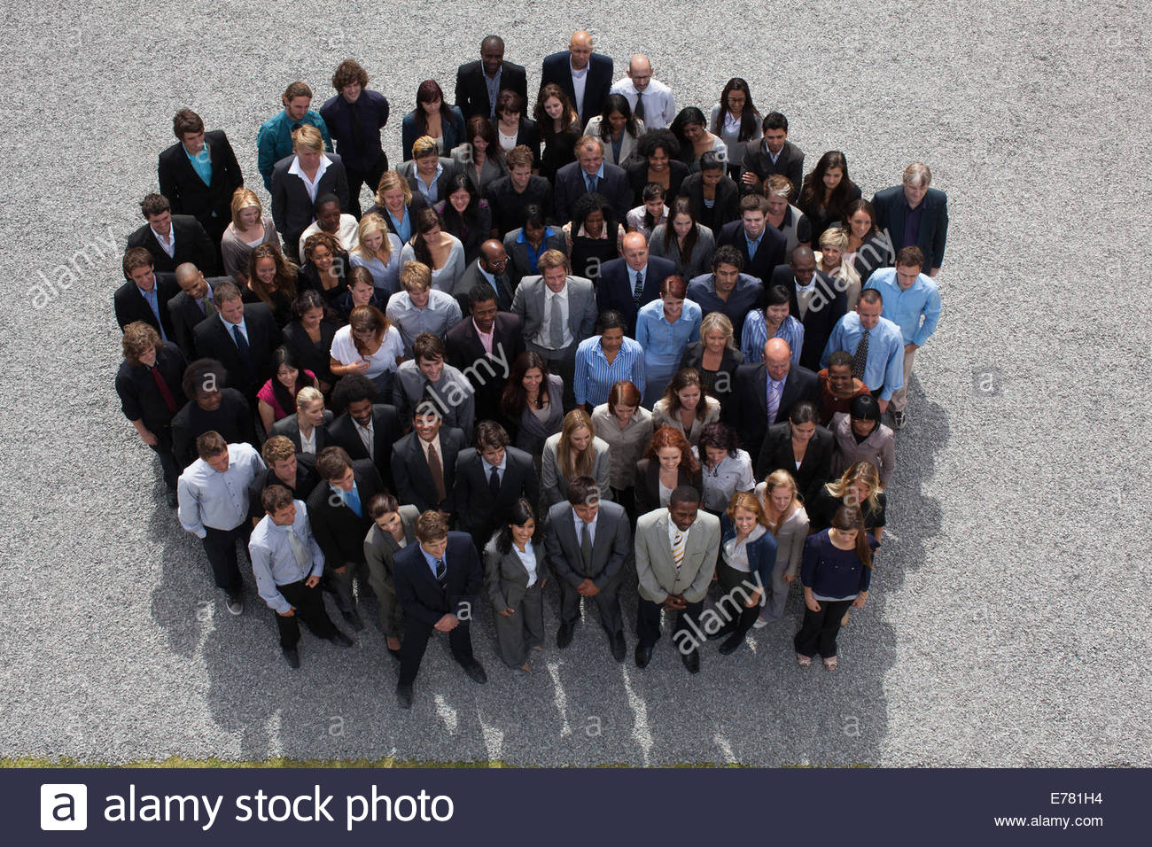 Grand groupe de gens d'affaires Photo Stock