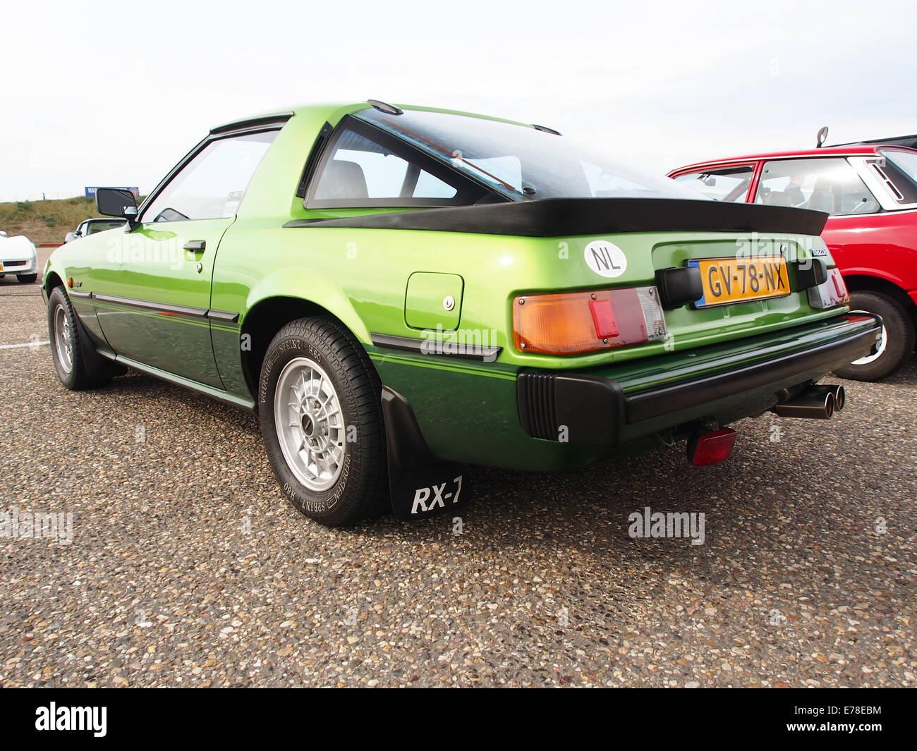 1981 Mazda RX-7, la licence GV-78-NX, pic2 Photo Stock