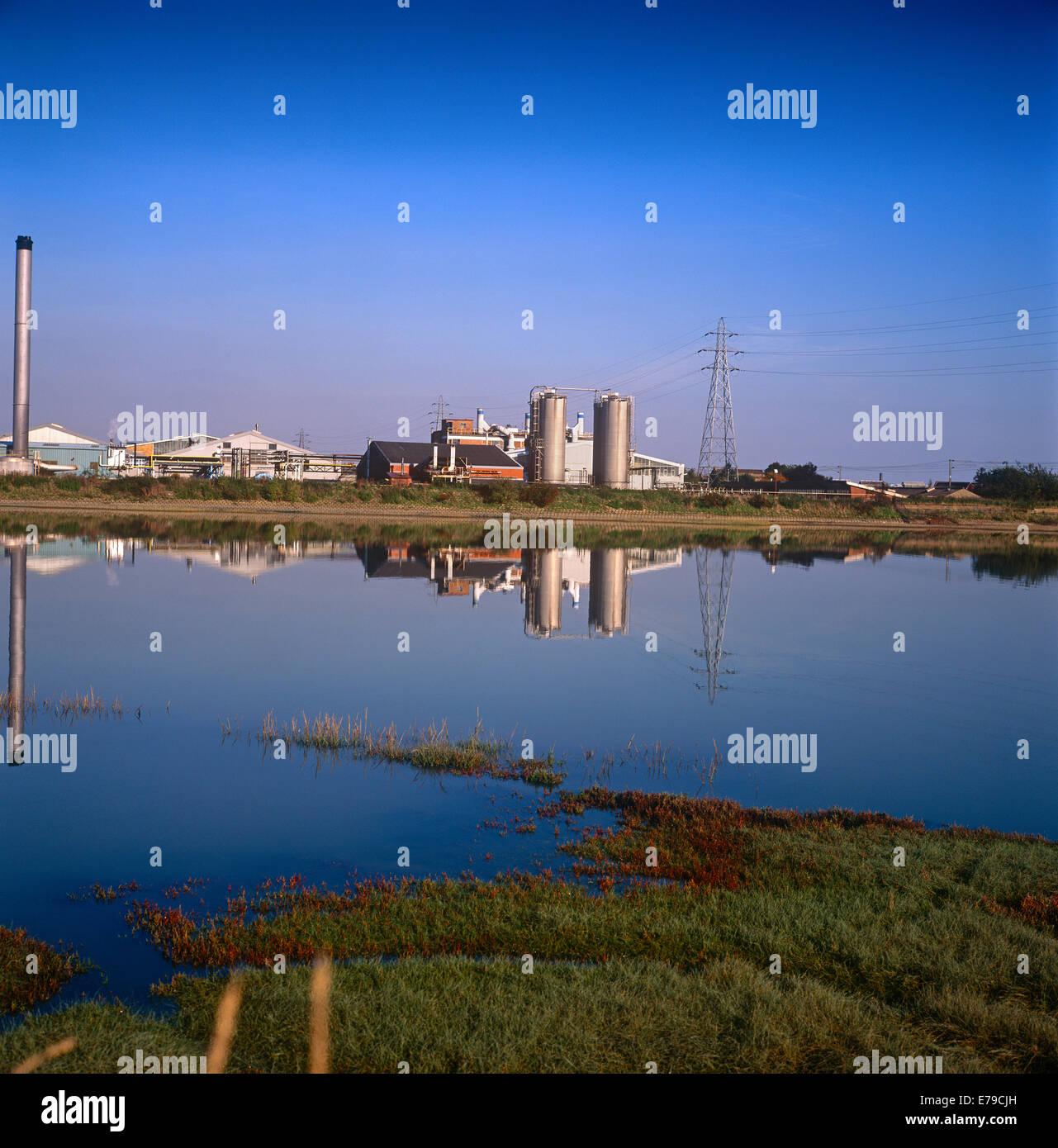 Bâtiments industriels en usine Brantham Photo Stock