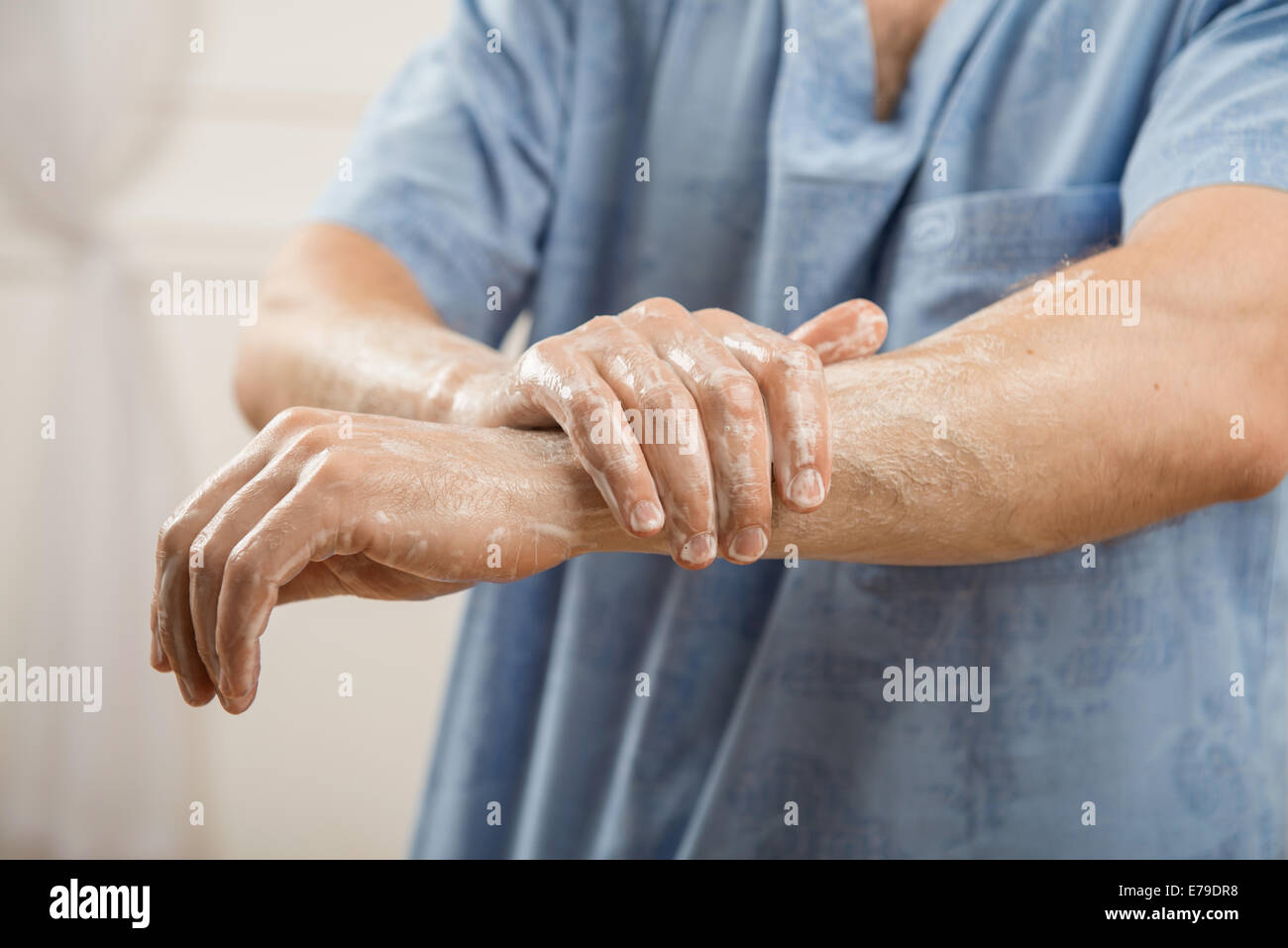 Le travail acharné des médecins Photo Stock