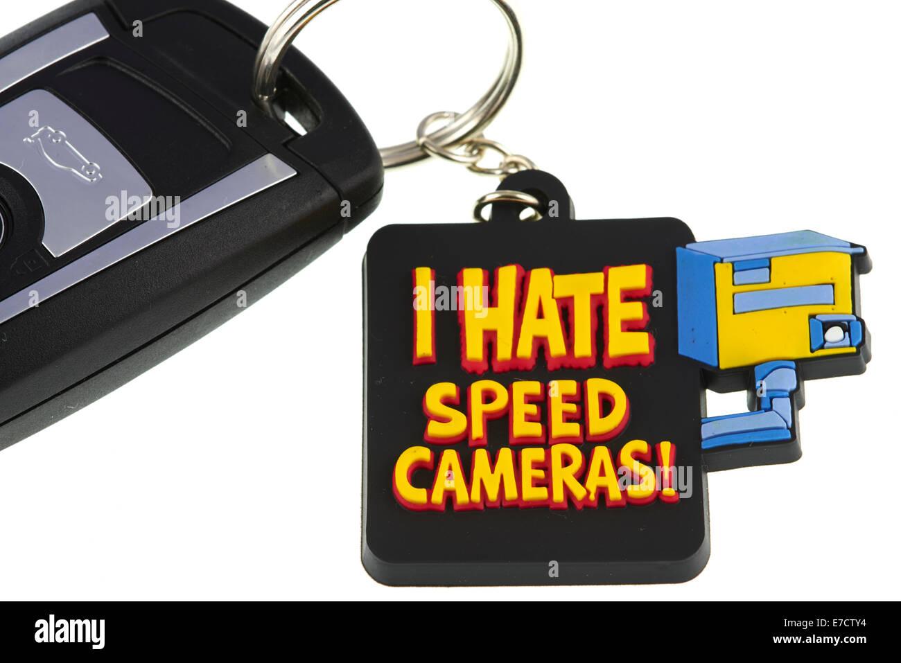 Je déteste les caméras de Vitesse porte-clé Photo Stock