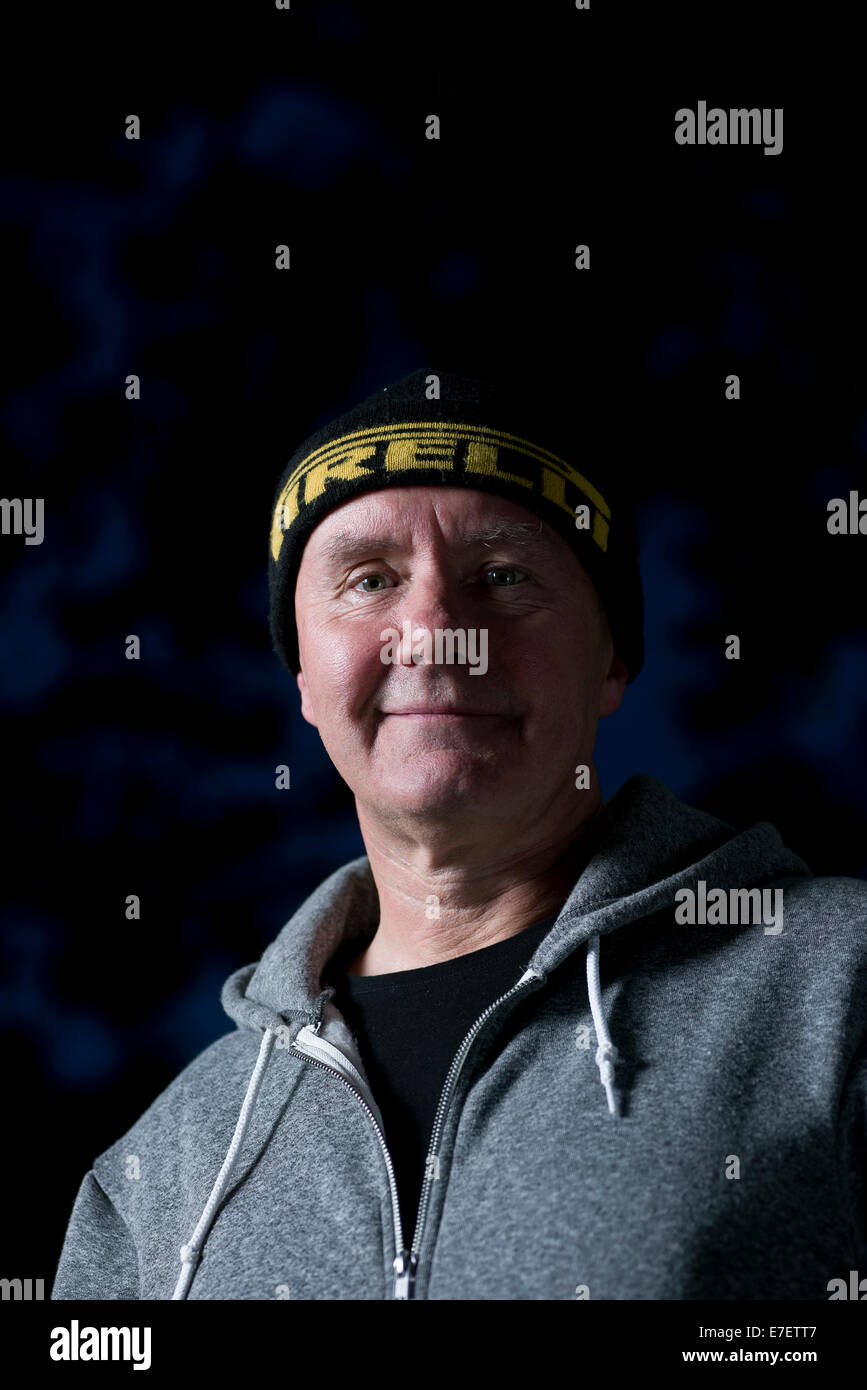 Scottish romancier, dramaturge et nouvelliste Irvine Welsh apparaît au Edinburgh International Book Festival. Photo Stock