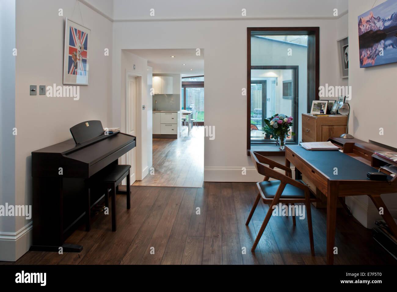 Londres modernisé l'étude à la maison Photo Stock