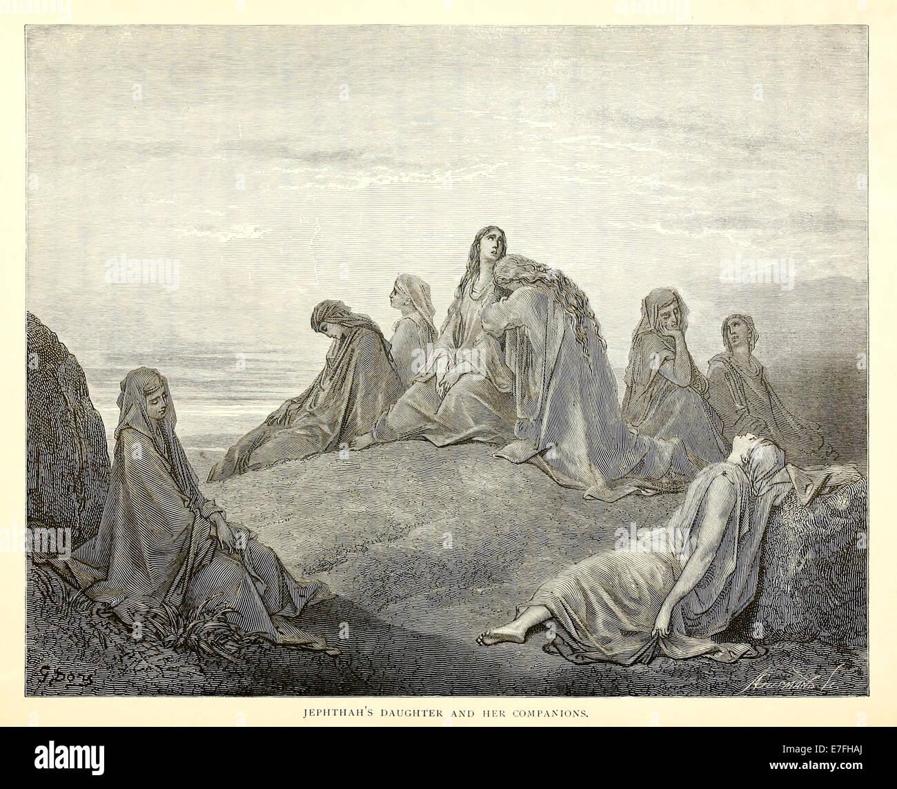 Illustration par Paul Gustave Doré (1832-1883) à partir de 1880 édition de la Bible. Voir la description pour plus d'informations. Banque D'Images