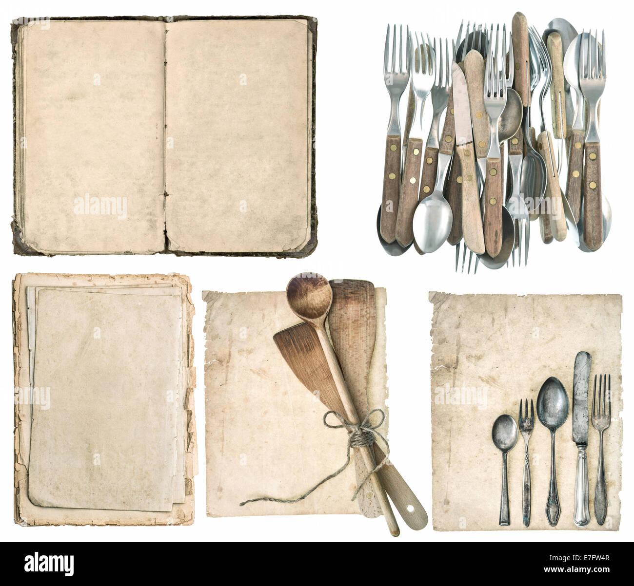 Des Ustensiles De Cuisine Anciens Couverts En Argent Et L