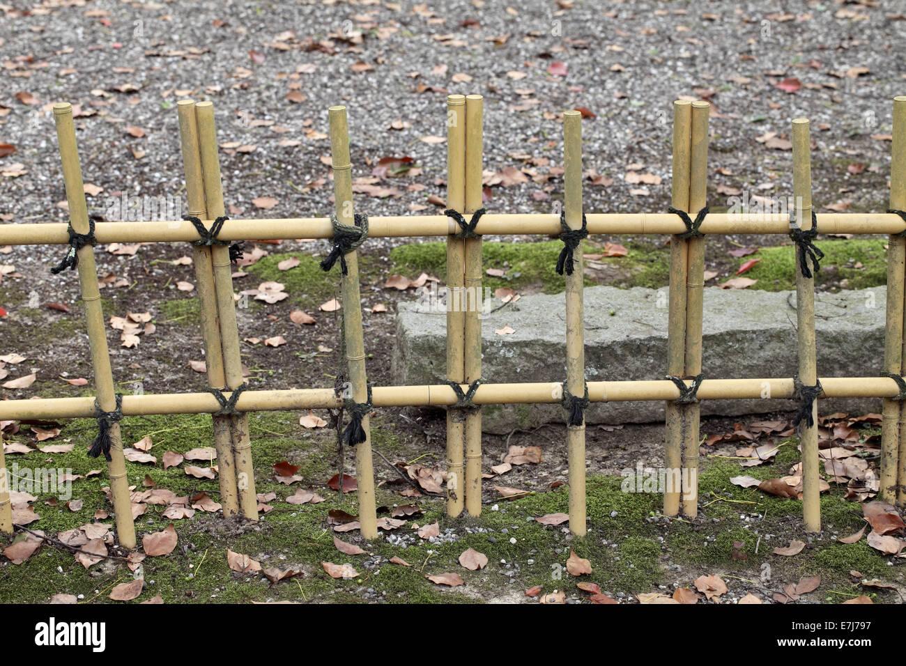 Clôture de bambou dans un jardin japonais Banque D\'Images ...