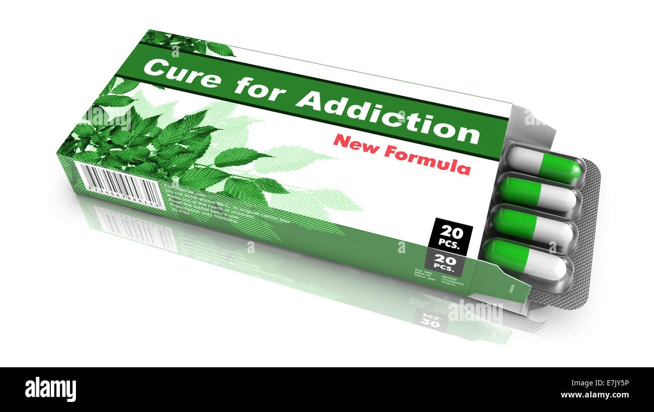 Traitement pour toxicomanie - distributeur de pilules. Photo Stock