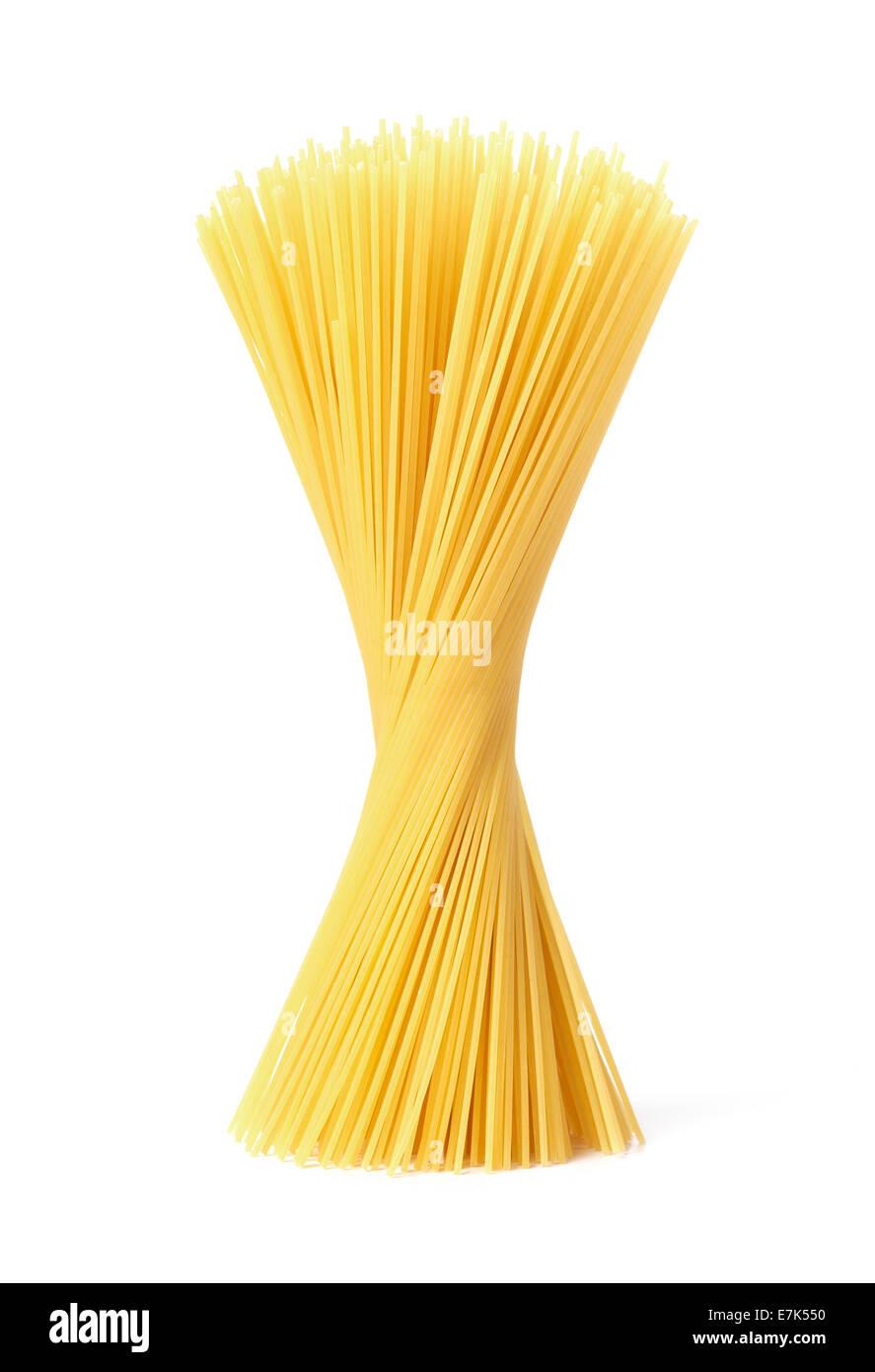 Les pâtes Spaghetti isolés Photo Stock