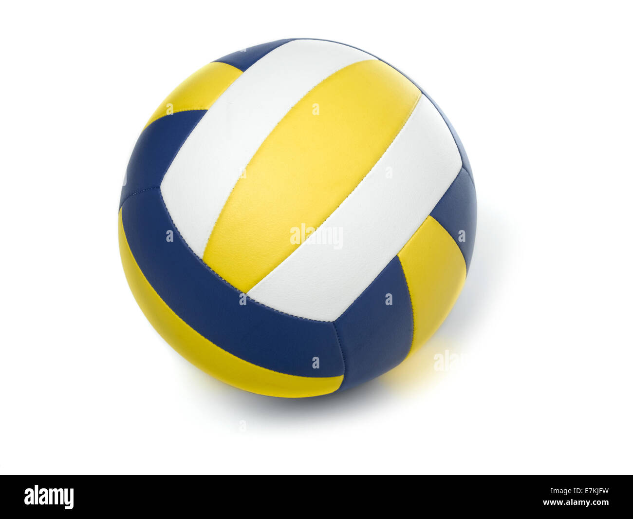 Volley-ball ball on white Photo Stock