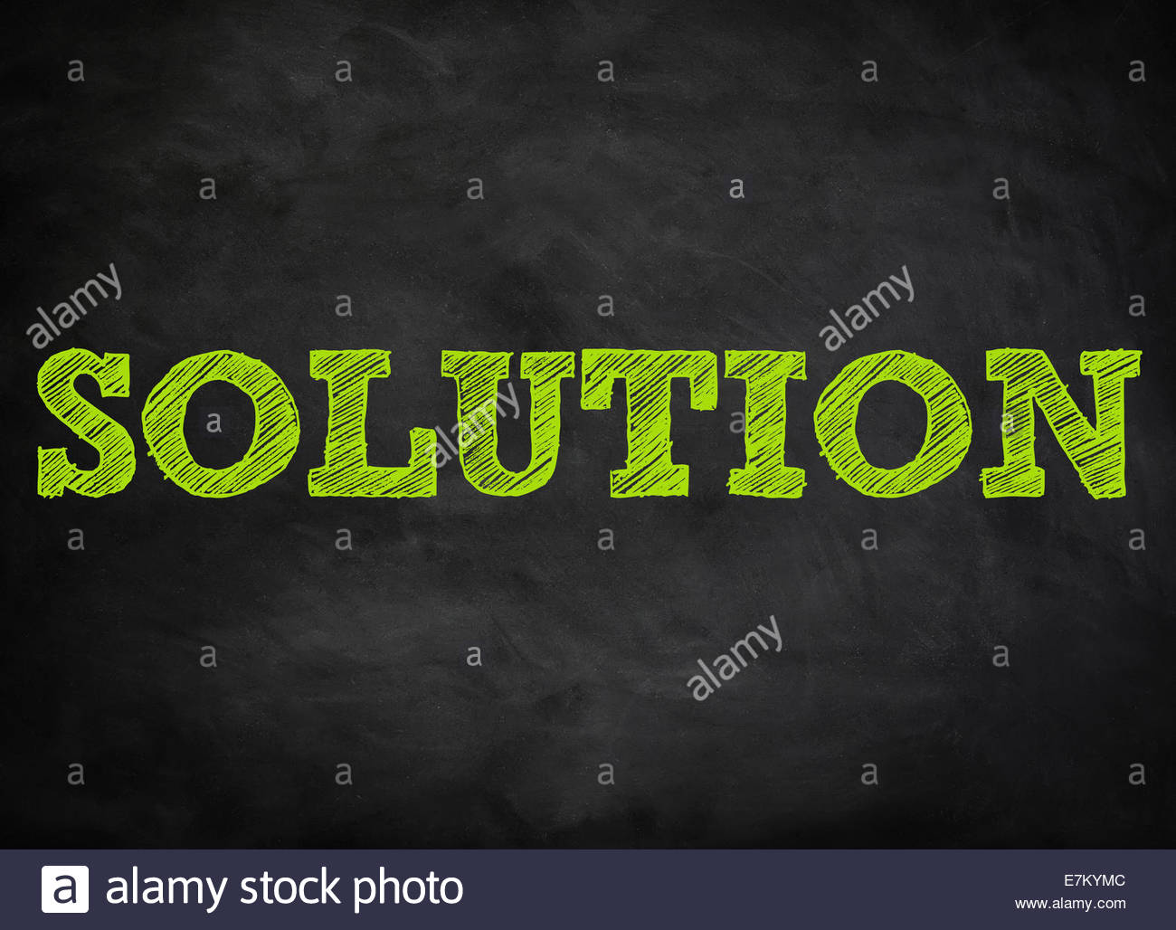 SOLUTION - concept tableau Photo Stock