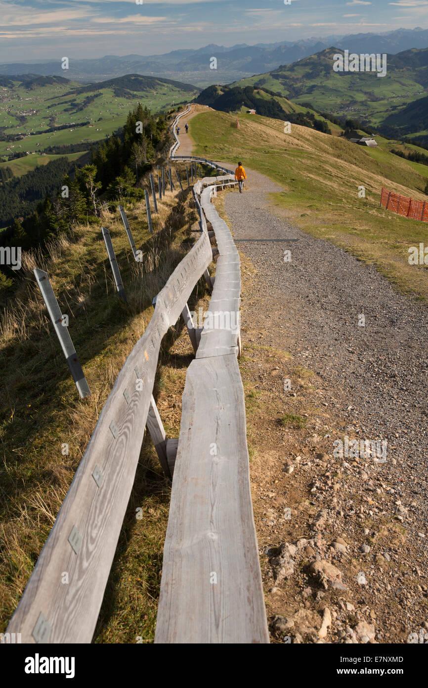 Depuis longtemps, l'Alpstein, banc, siège, Banque mondiale, organisation mondiale, Kronberg, montagne, Photo Stock