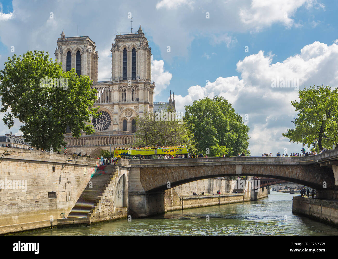 Cathédrale, Ville, France, Notre Dame, Paris, architecture, pont, cite, centre-ville, la Seine, le tourisme, Photo Stock