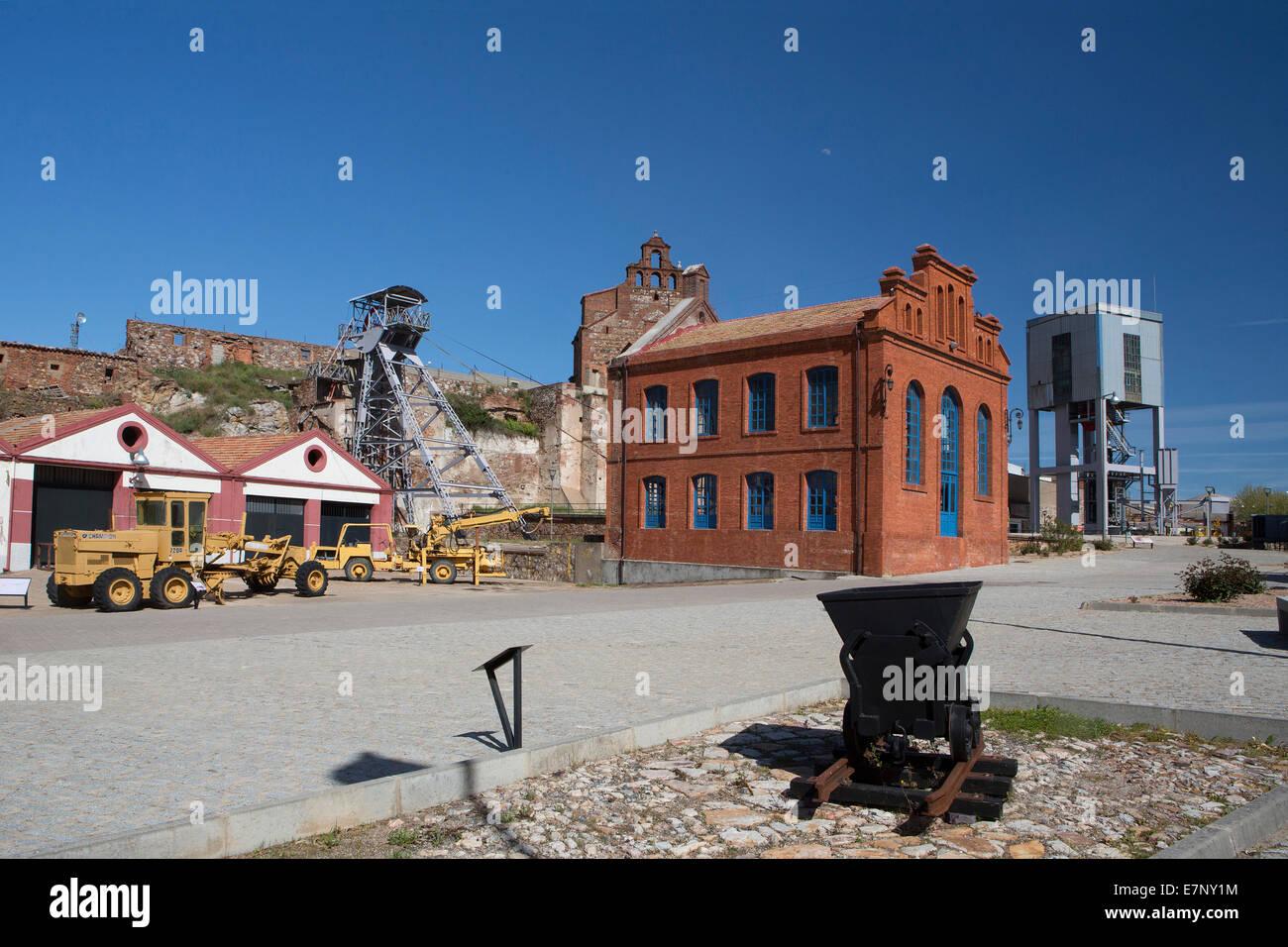 L'industrie, patrimoine mondial, Unesco, almaden, Castille La Mancha, Ville, Ciudad Real, du mercure, des Mines, Photo Stock