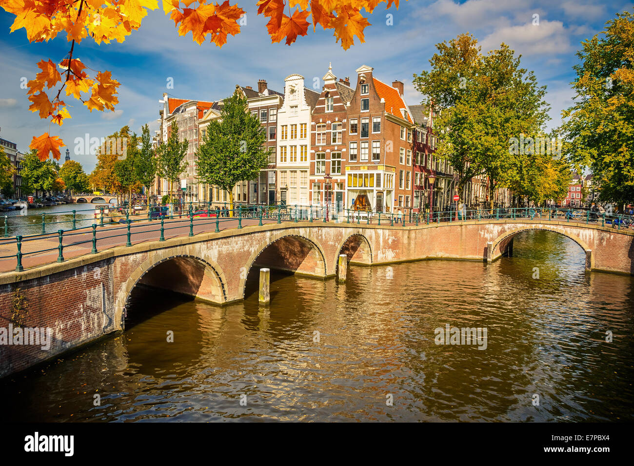 La ville d'Amsterdam Photo Stock