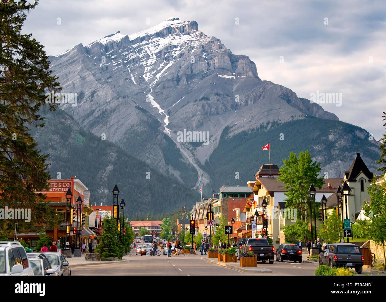Ville de Banff, Banff, Alberta, Canada Photo Stock