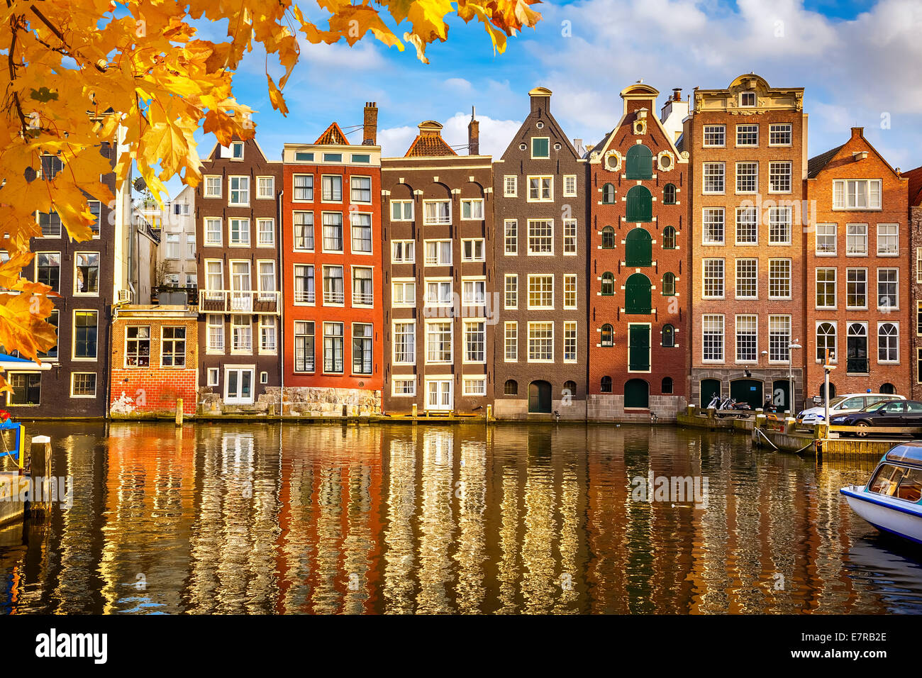 Vieux bâtiments à Amsterdam Photo Stock
