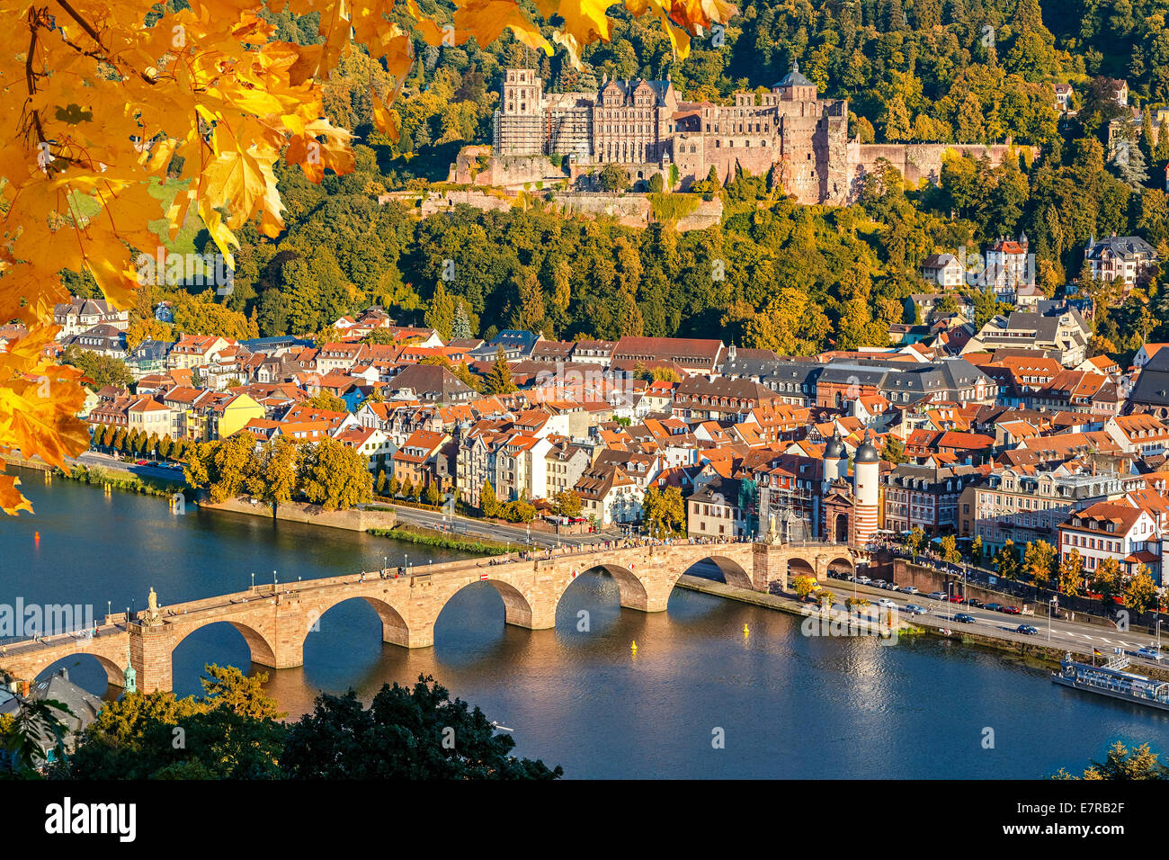 Vue sur Heidelberg Photo Stock