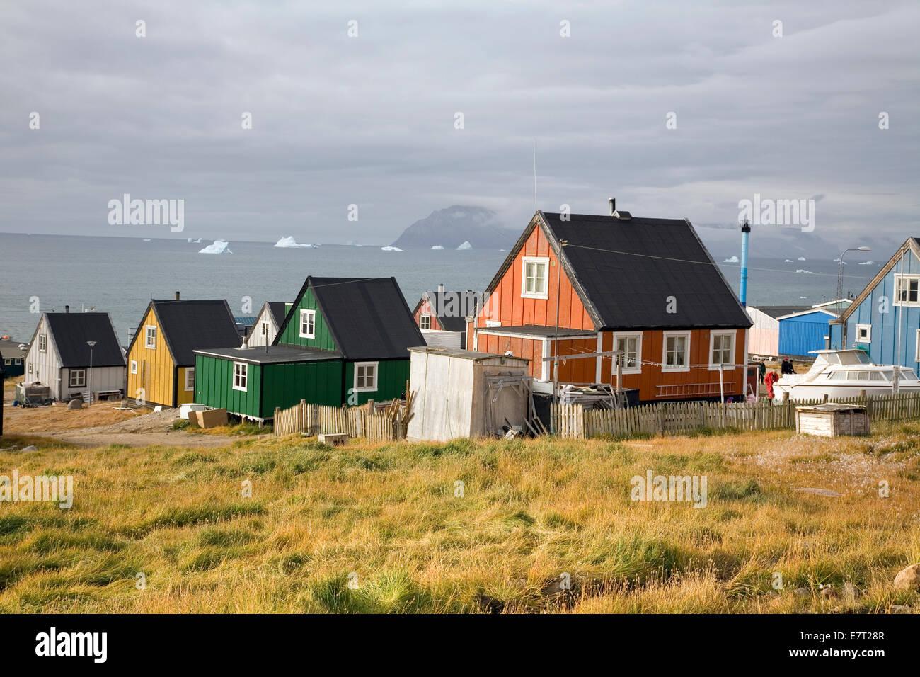 """Qaanaaq, aussi connu sous le nom de """"nouvelle Thulé, Groenland' Banque D'Images"""