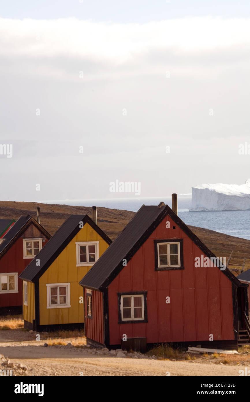 """Qaanaaq, aussi connu sous le nom de """"nouvelle Thulé, Groenland, Arctique' Banque D'Images"""
