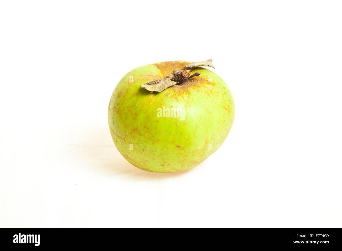 Fruits pomme verte biologique isolé sur fond blanc Photo Stock