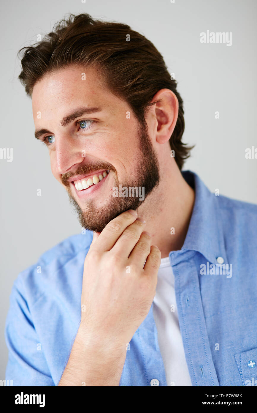 Portrait masculin smiling Photo Stock