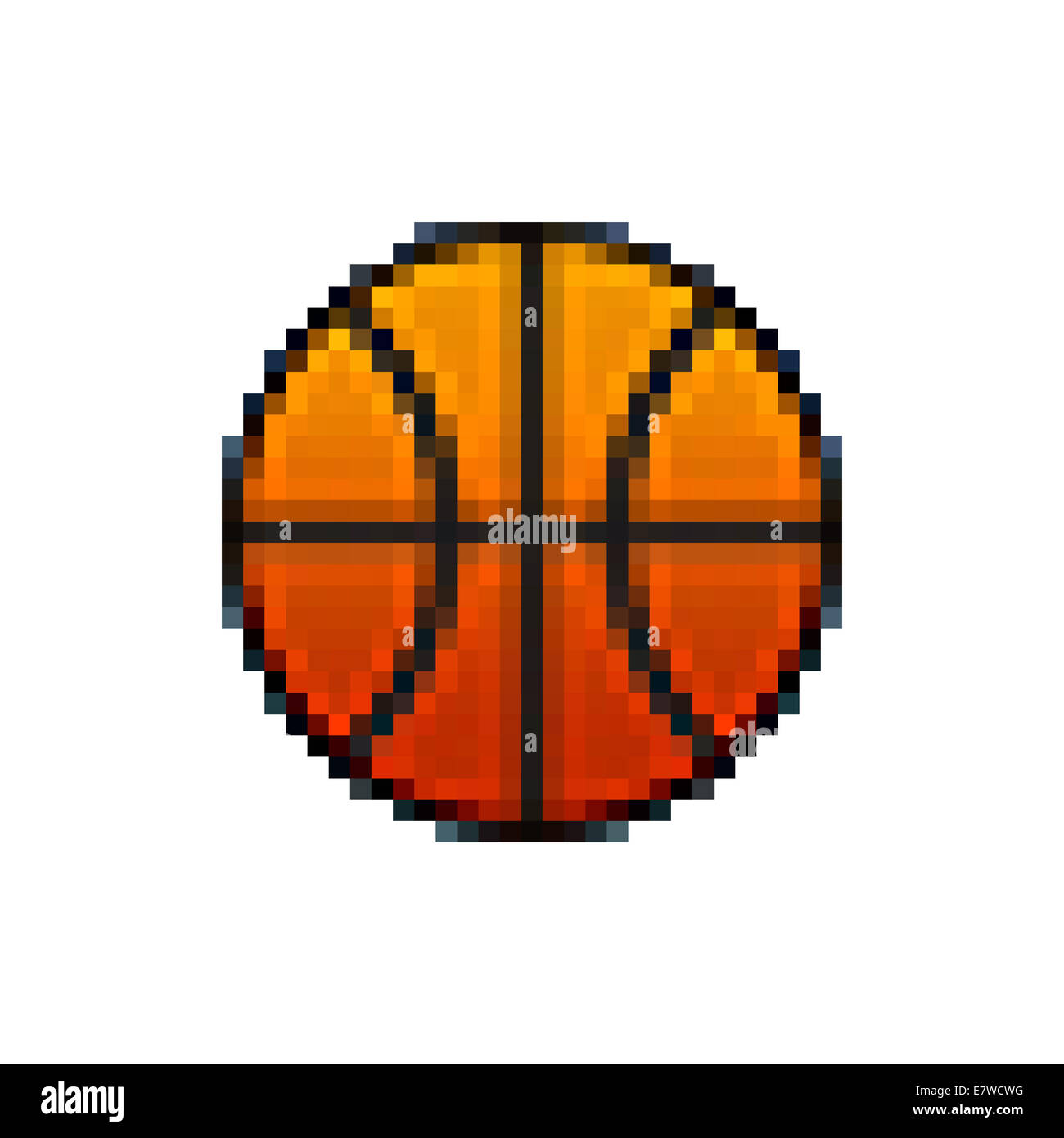 Basket Ball Pixel Banque Dimages Photo Stock 73702988 Alamy