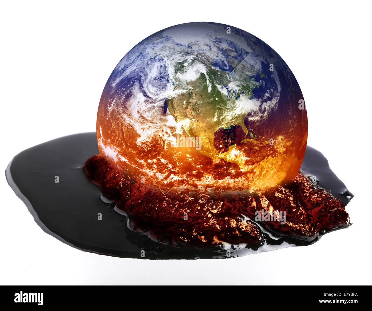 Fusion de la terre. Banque D'Images
