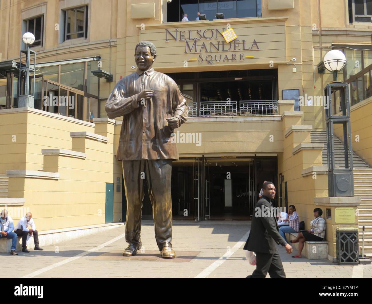 La place Nelson Mandela de Johannesburg à Sandton. Photo Tony Gale Photo Stock