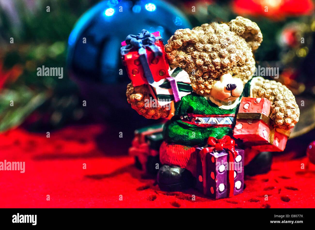 Soeur Carte de Noël avec Festive Bear et Bonhomme de Neige Scène