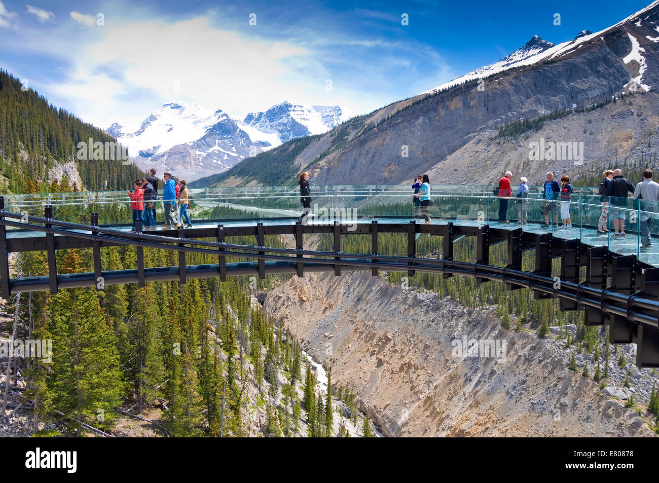 Glacier Skywalk, Jasper National Park, Alberta, Canada Photo Stock