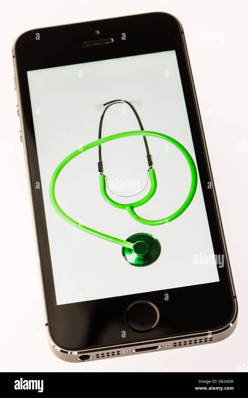 App de santé. Photo Stock