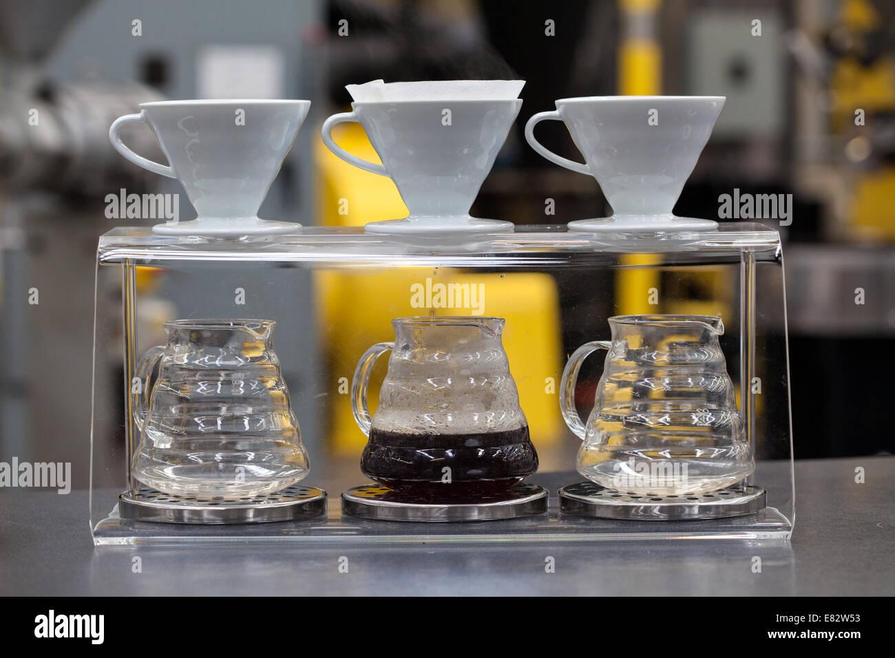 Du café fraîchement moulu Photo Stock