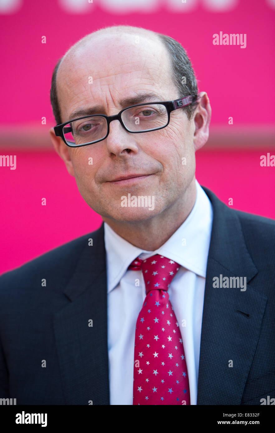 Nick Robinson-Chief rédactrice politique pour la BBC Photo Stock